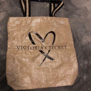 Gold Victoria secret tote